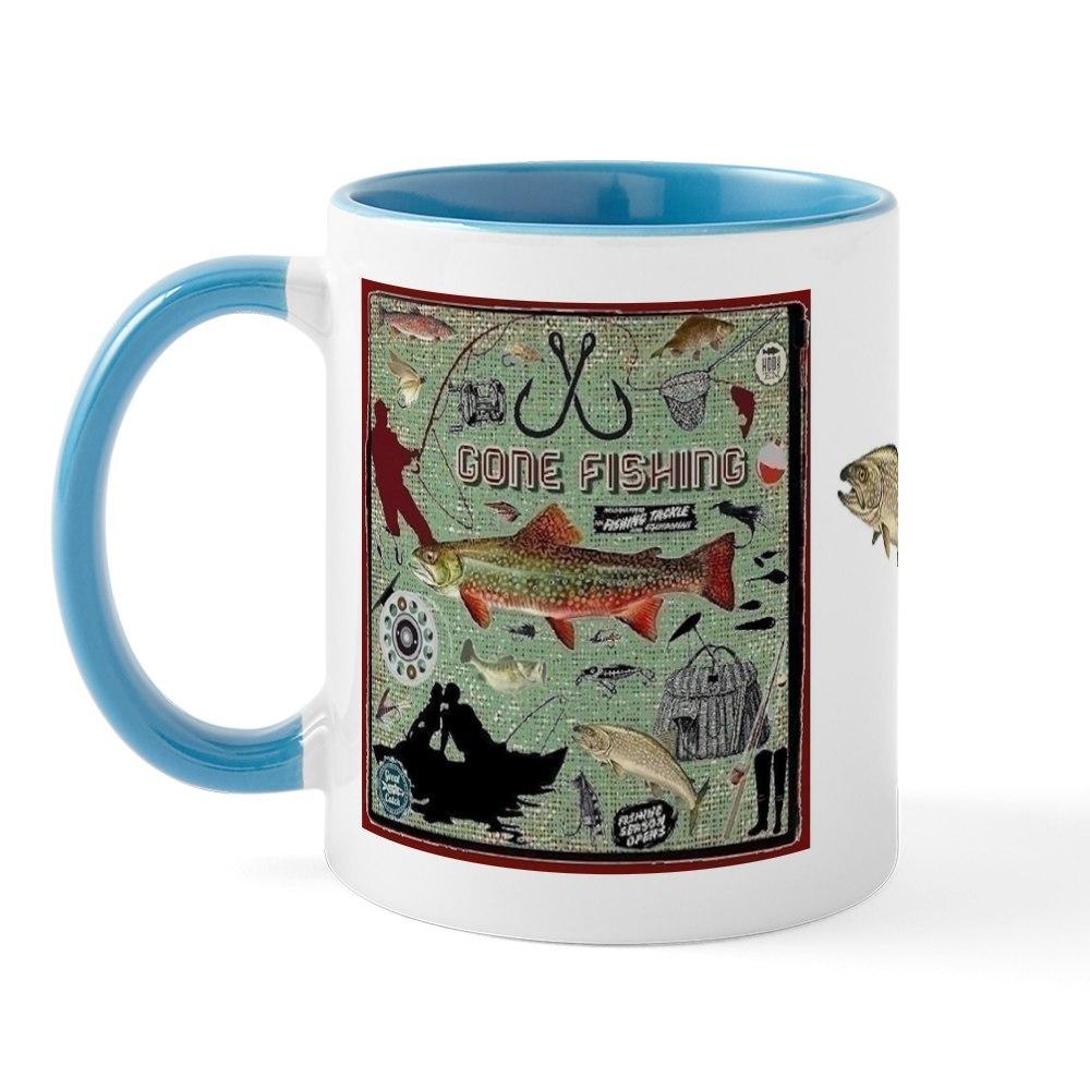 miniature 11 - CafePress Gone Fishing Mug Mugs 11 oz Ceramic Mug (1283922604)