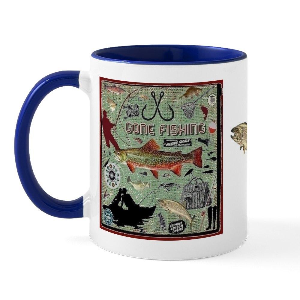 miniature 7 - CafePress Gone Fishing Mug Mugs 11 oz Ceramic Mug (1283922604)