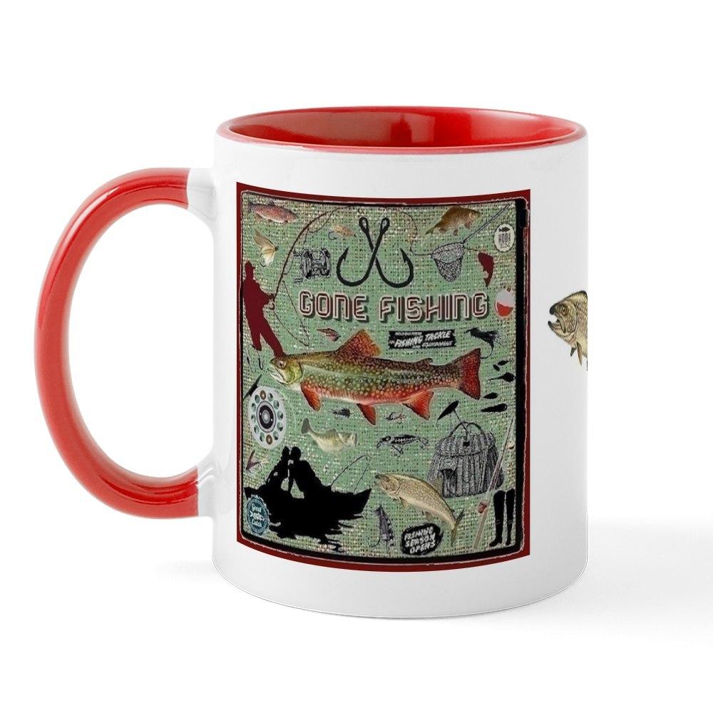 miniature 13 - CafePress Gone Fishing Mug Mugs 11 oz Ceramic Mug (1283922604)