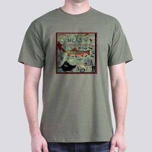 Gone Fishing Dark T-Shirt