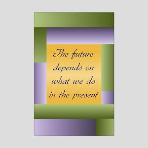 Ghandi quote Mini Poster Print