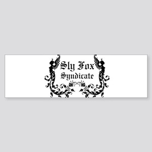 Sly Fox Syndicate Logo Bumper Sticker