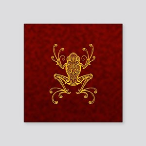 Intricate Golden Red Tribal Tree Frog Sticker
