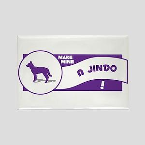 Make Mine Jindo Rectangle Magnet