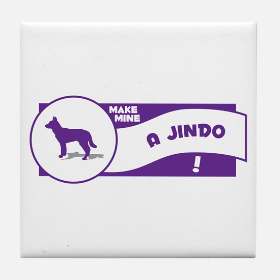 Make Mine Jindo Tile Coaster