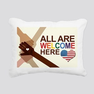All Are Welcome Here Rectangular Canvas Pillow