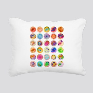 Psychedelic Supernova Ci Rectangular Canvas Pillow