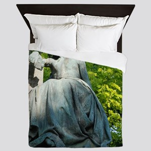 Angel Statue Queen Duvet