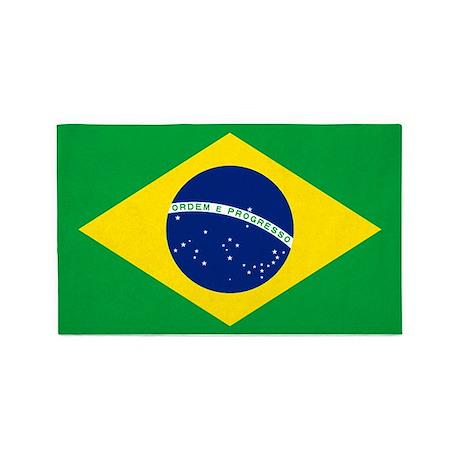 Flag Of Brazil 3'x5' Area Rug