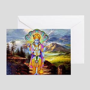 Hindu God Vishnu Greeting Card