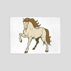 Elegant Horse 5'x7'Area Rug