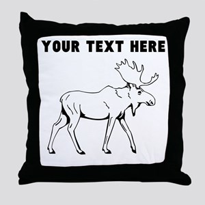 Custom Moose Throw Pillow