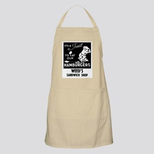 WEED'S DINER BBQ Apron