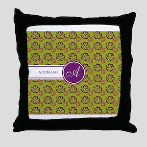Hawaiian Monogram Personalized Throw Pillow