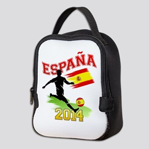 Soccer ESPANA Flag Neoprene Lunch Bag