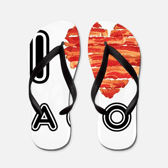 I Heart Bacon Flip Flops