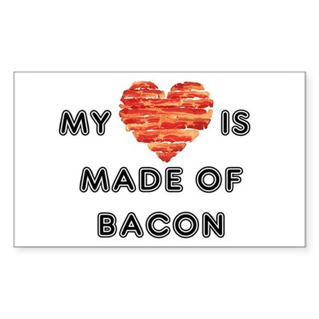 My heart is made of bacon Sticker