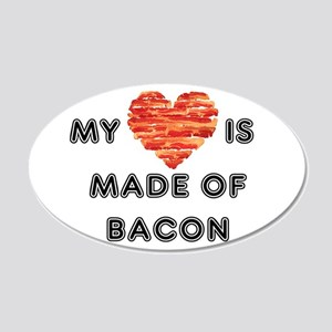 My heart is made of bacon Wall Decal