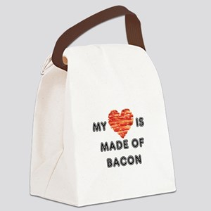 My heart is made of bacon Canvas Lunch Bag