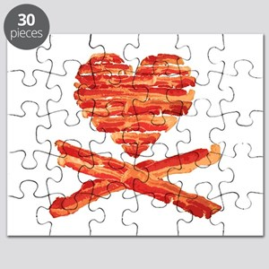 Bacon Heart and Crossbones Puzzle