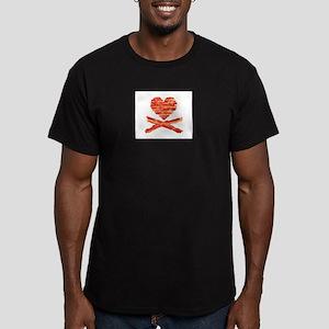 Bacon Heart and Crossbones T-Shirt