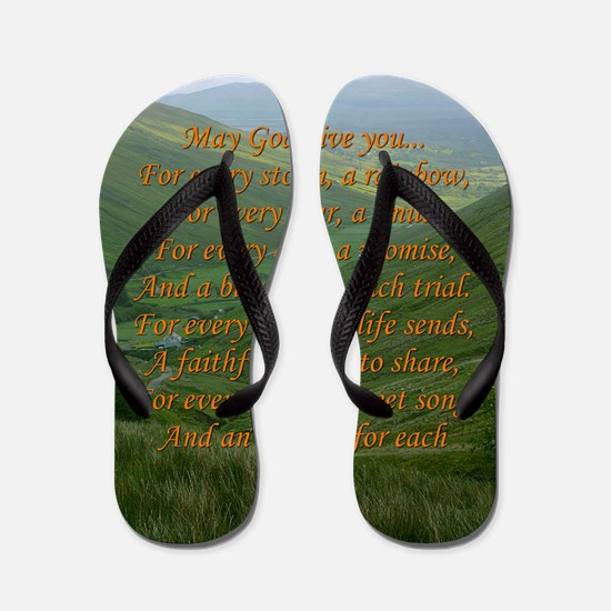 Irish Prayer Flip Flops