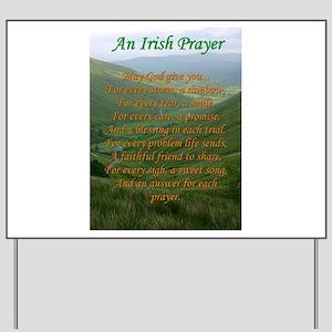 Irish Prayer Yard Sign