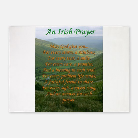 Irish Prayer 5'x7'Area Rug