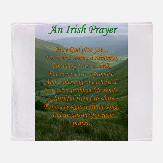 Irish Prayer Throw Blanket