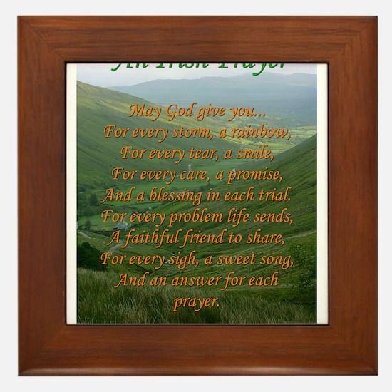 Irish Prayer Framed Tile