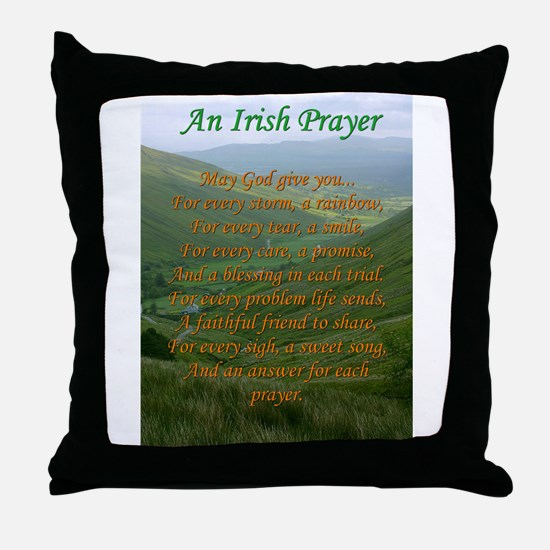 Irish Prayer Throw Pillow