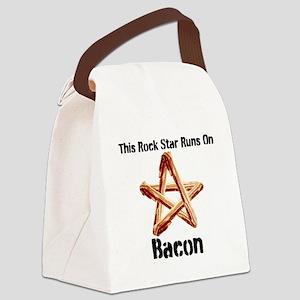 Bacon Super Star Runs on Bacon Canvas Lunch Bag