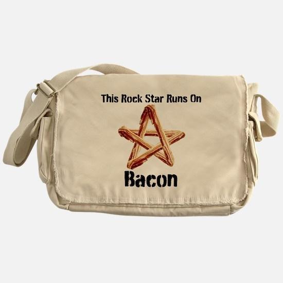 Bacon Super Star Runs on Bacon Messenger Bag