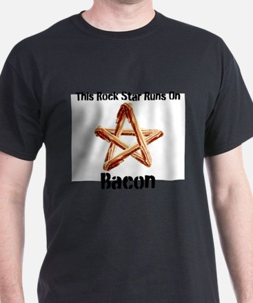 Bacon Super Star Runs on Bacon T-Shirt