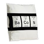 Periodic Bacon Burlap Throw Pillow