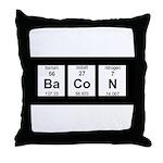Periodic Bacon Throw Pillow
