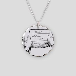 Pig Diagram Necklace