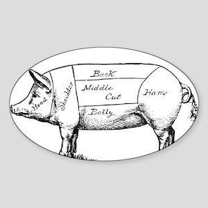 Pig Diagram Sticker
