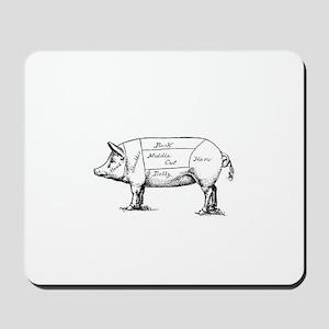Pig Diagram Mousepad