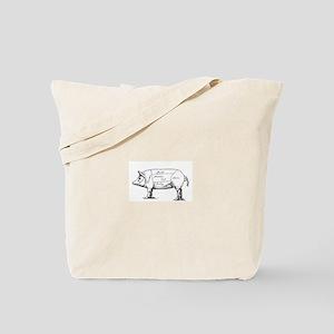 Pig Diagram Tote Bag