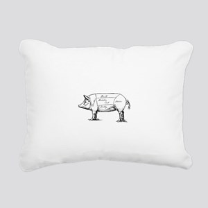 Pig Diagram Rectangular Canvas Pillow