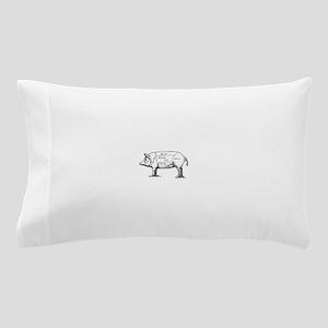 Pig Diagram Pillow Case