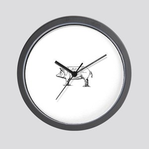 Pig Diagram Wall Clock