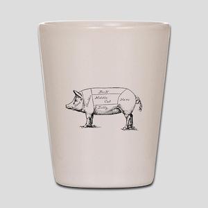 Pig Diagram Shot Glass