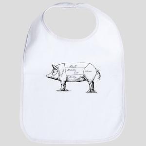 Pig Diagram Bib