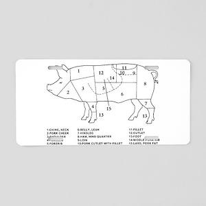 Pig Parts Aluminum License Plate