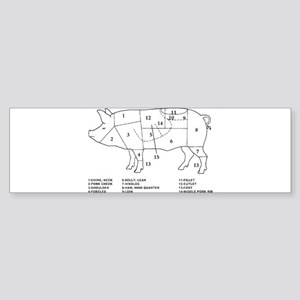 Pig Parts Bumper Sticker