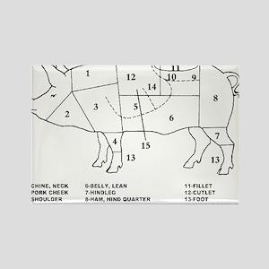 Funny Pork Cuts Diagram Magnets Cafepress