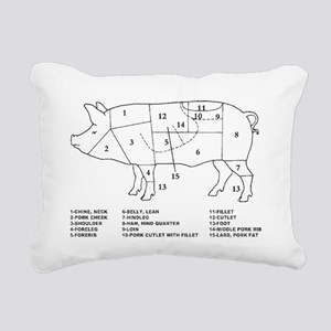Pig Parts Rectangular Canvas Pillow