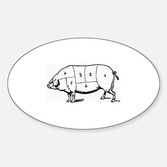 Pig Parts in Numbers Decal